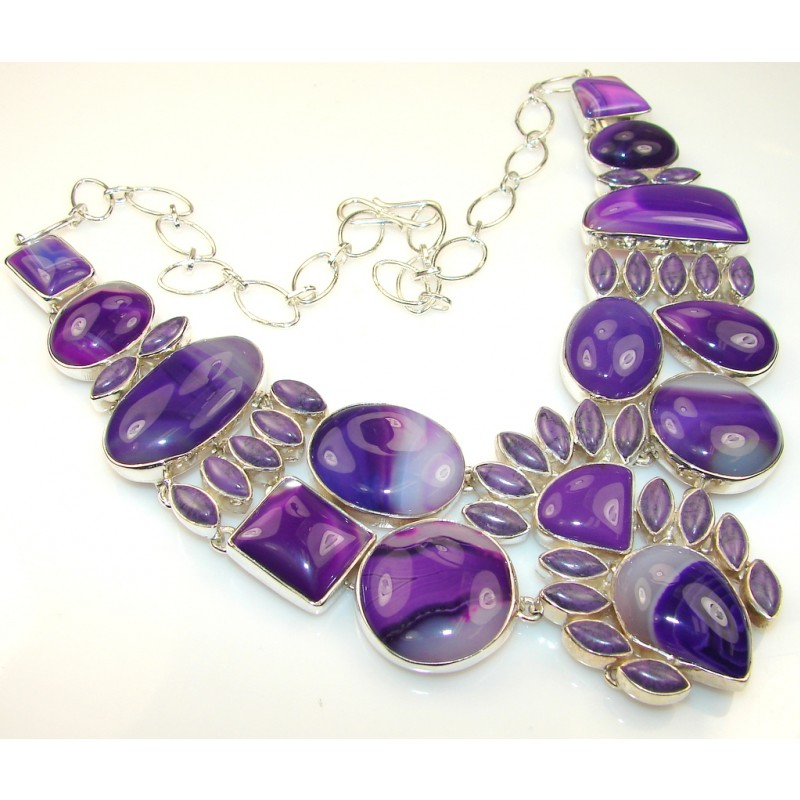 Awesome Color Of Agate Sterling Silver necklace