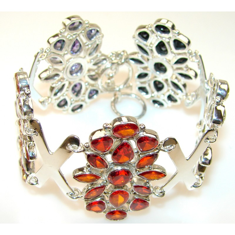 Frost Breeze Multigem Sterling Silver Bracelet