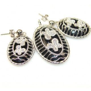 Loyal Promise Black Onyx Sterling Silver earrings / Set