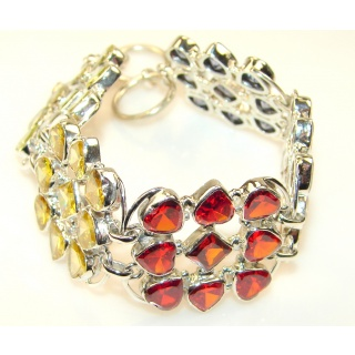 Secret Multicolor Quartz Sterling Silver Bracelet
