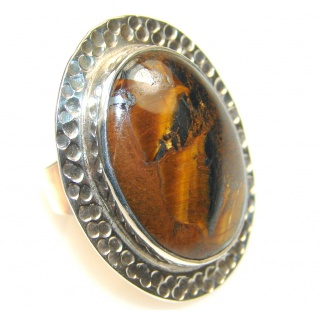 Vision Tigers Eye Sterling Silver Ring s. 5 1/4