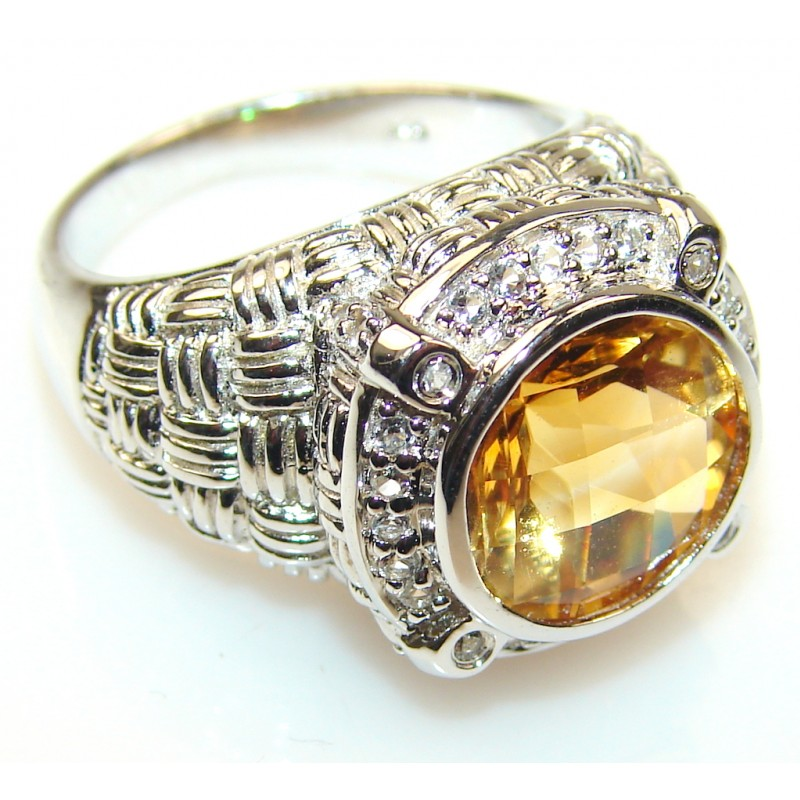 My Sweet Citrine Sterling Silver ring s. 7 1/2