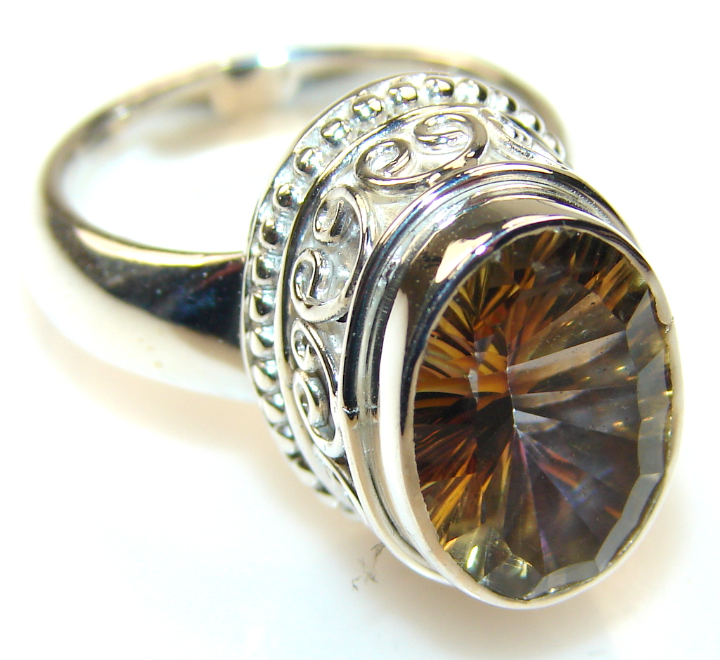 Discount Filters Coupon >> Sun Halo Magic Topaz Sterling Silver ring; s. 7 - 11.80g | $64.43 best price at Silver Rush Style!