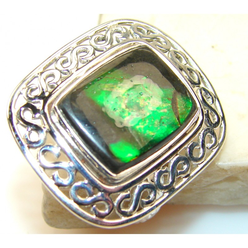 Inspire Ammolite Sterling Silver ring s. 9