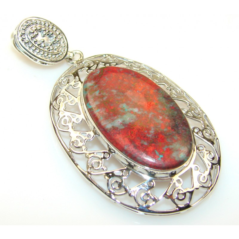 Just Glow Red Sonora Jasper Silver Pendant