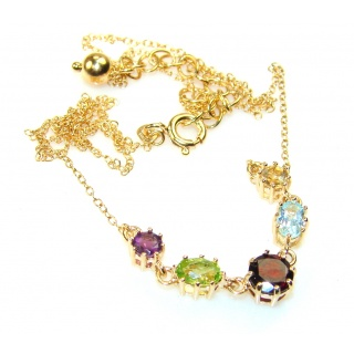 Gorgeous Gold Plated Multigem Sterling Silver necklace