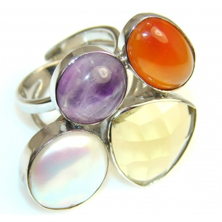 Misty Morning Amethyst Sterling Silver ring s. 8 & up