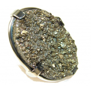 Unusal Style Of Geo Druzy Sterling Silver Ring s. 7 1/4