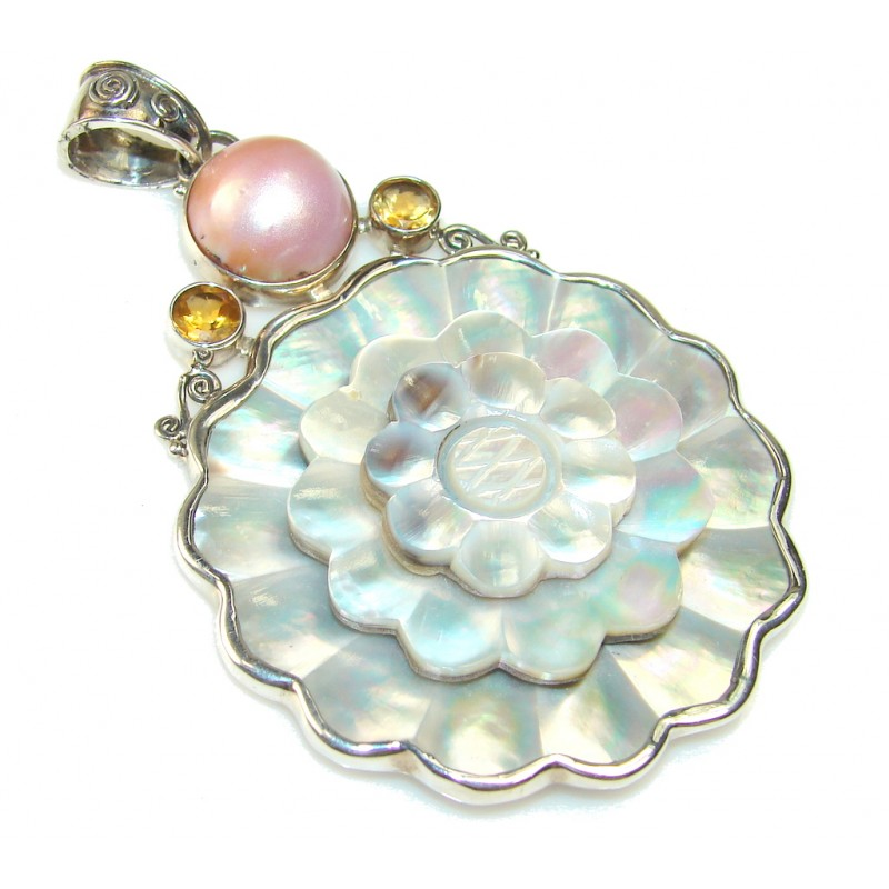 Big!! Amazing Blister Pearl Sterling Silver pendant