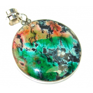 Excellent Sea Sediment Jasper Sterling Silver Pendant