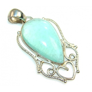 Stylish Green Apatite Sterling Silver Pendant