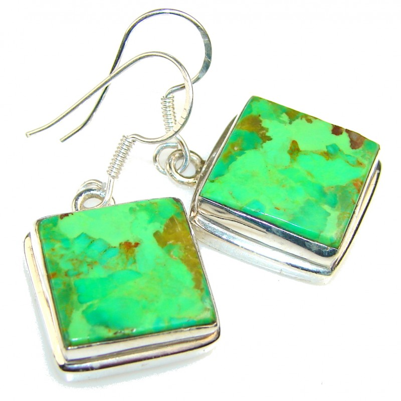Memories Of Green Turquoise Sterling Silver earrings