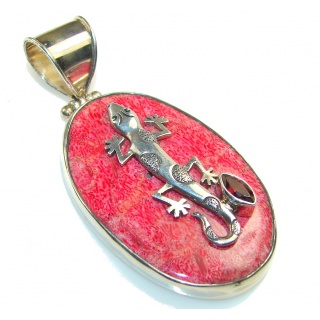Fantastic Fossilized Coral Sterling Silver pendant