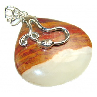 Most Clever!! Montana Agate Sterling Silver Pendant