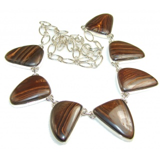 Trade Secret!! Iron Tigers Eye Sterling Silver necklace