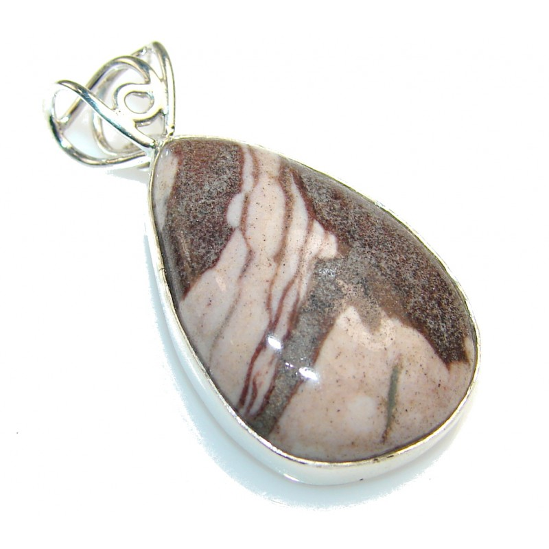 Tidal Wave Of Nuggetc Jasper Sterling Silver Pendant