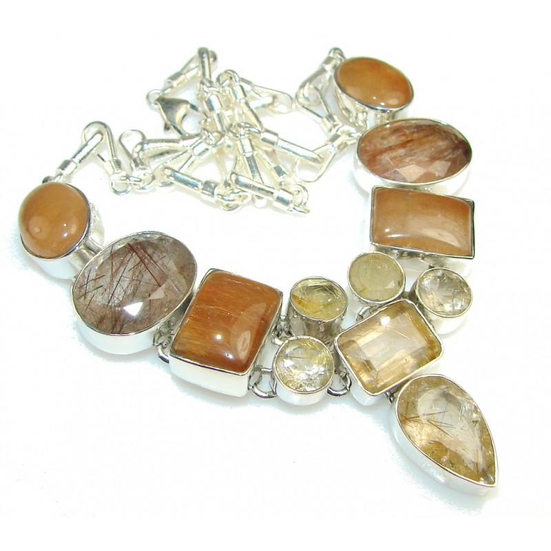 Traditions Golden Rutilated Quartz Sterling Silver necklace