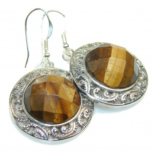 Timeless Tigers Eye Sterling Silver earrings