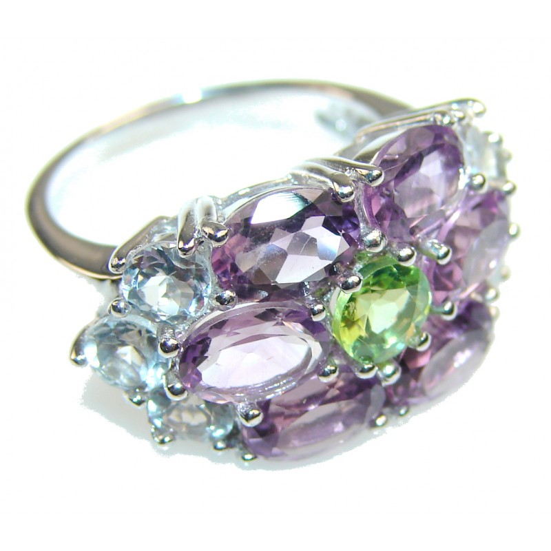 Lilac Kiss Amethyst Sterling Silver ring s. 6 1/2
