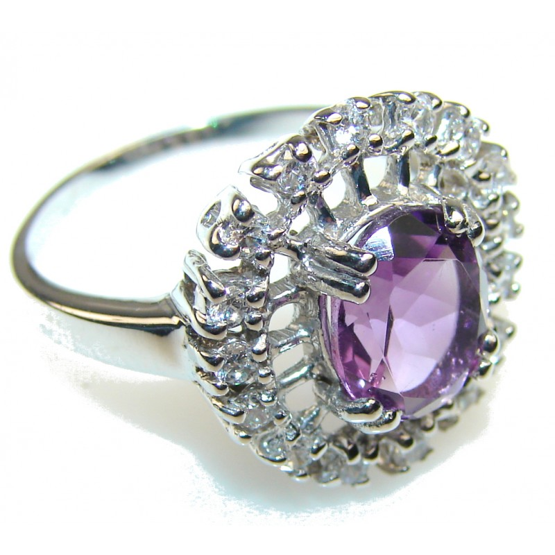 Purple Spell!! Amethyst Sterling Silver ring s. 9 1/2