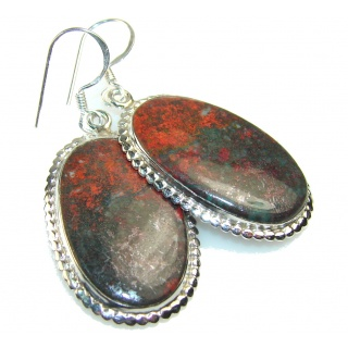 Red Sonora Jasper Sterling Silver earrings