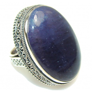 Awesome Deep Ocean Quartz Sterling Silver Ring s.7