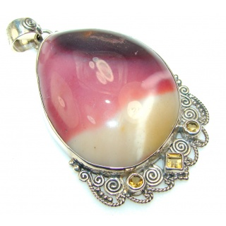 Fabulous Design Of Mookaite Sterling Silver Pendant