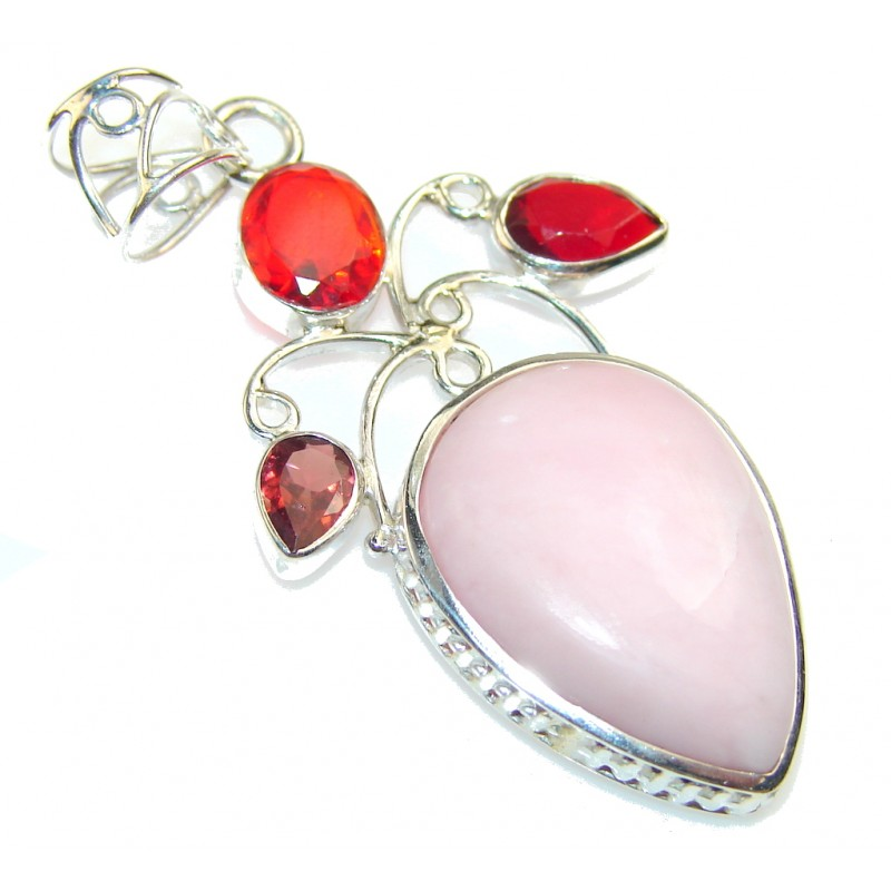 The One!! Pink Opal Sterling Silver Pendant