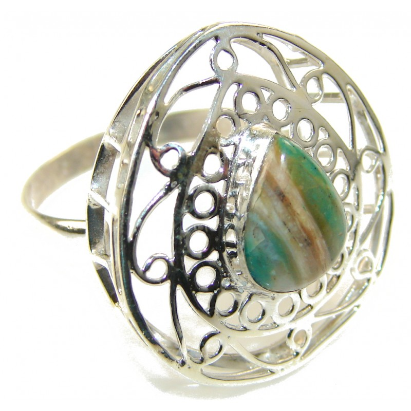Traditions Chrysoprase Sterling Silver ring s. 12