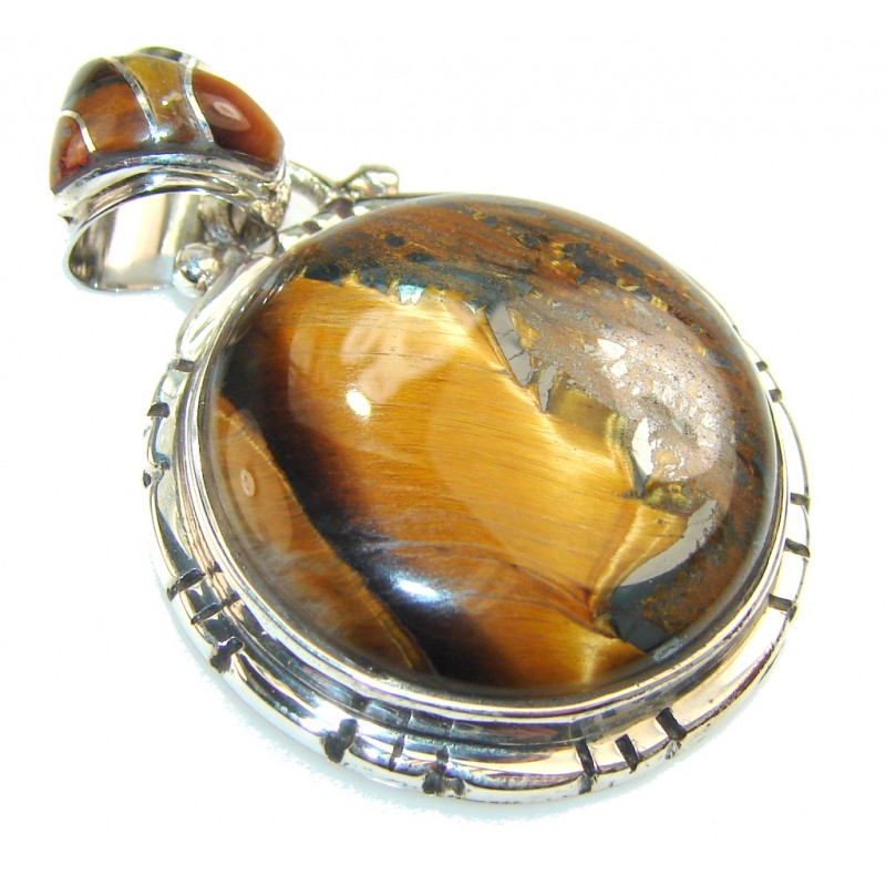 Passion Golden Tigers Eye Sterling Silver Pendant