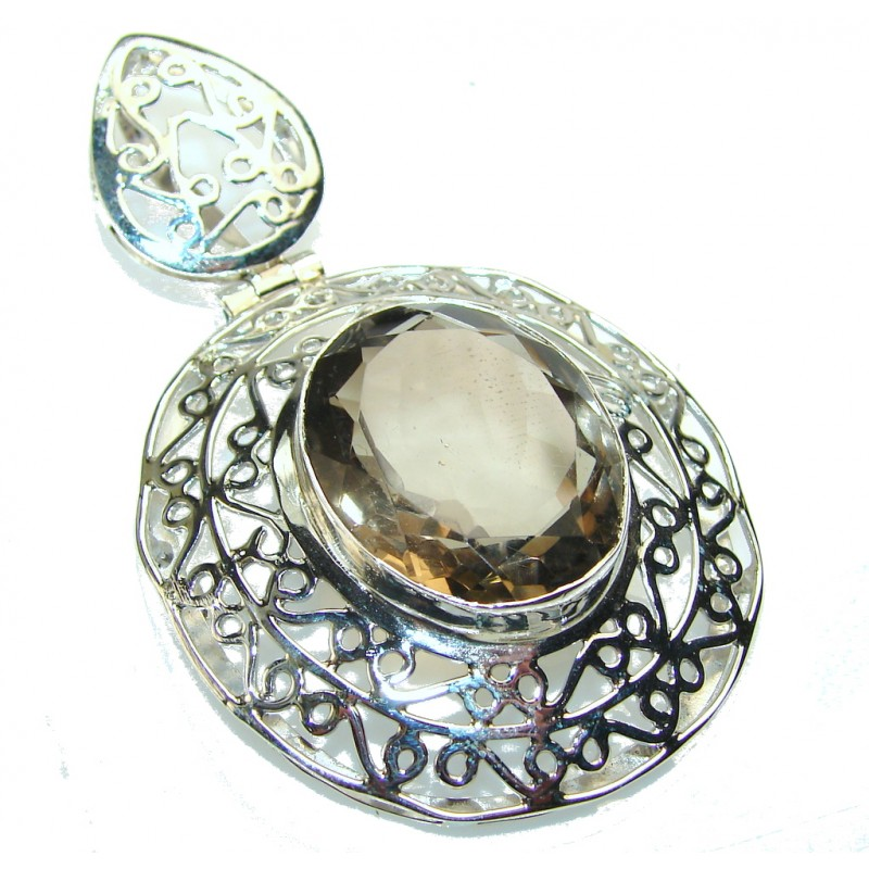 Get Glowing!! Smoky Topaz Sterling Silver Pendant