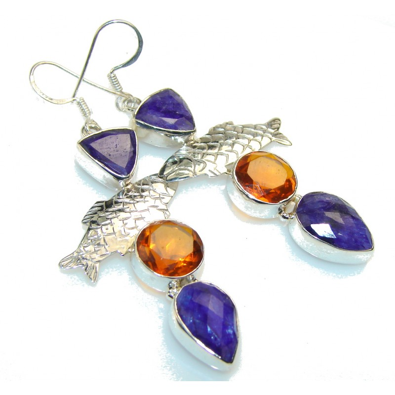 Misty Morning!! Golden Topaz Sterling Silver earrings