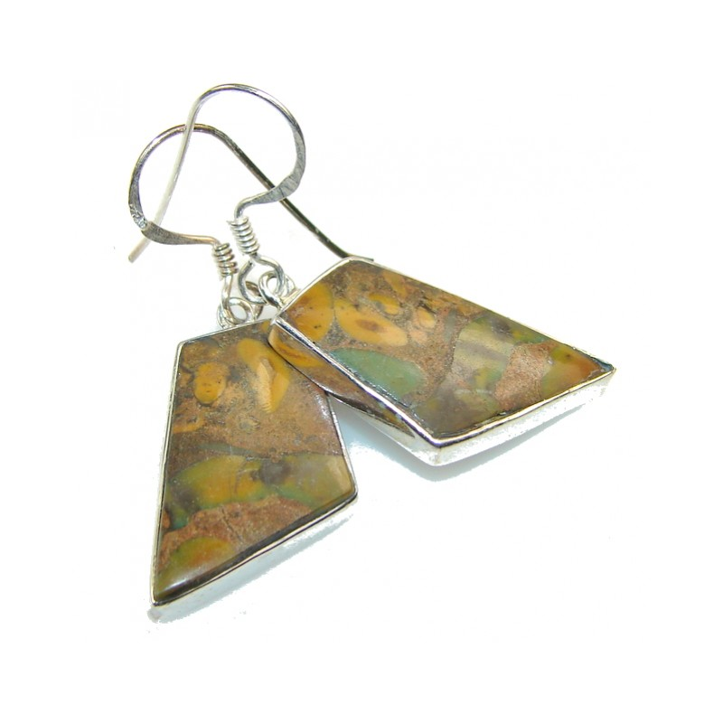 New Leopart's Skin Jasper Sterling Silver earrings