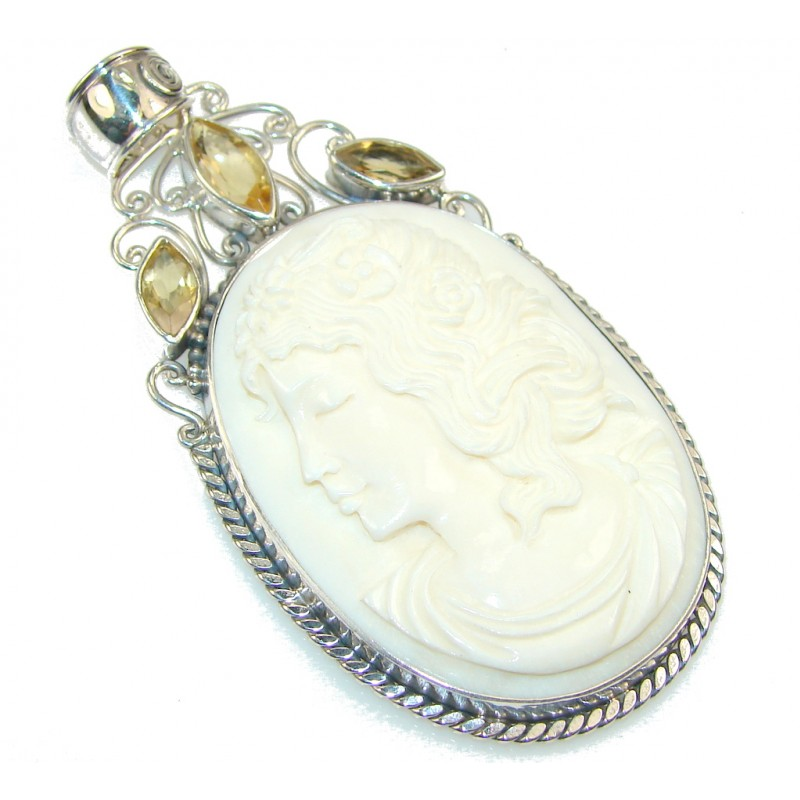 Incredible Cameo Sterling Silver Pendant
