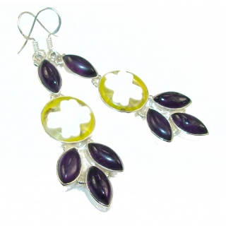 New Design!! Dichroic Glass Sterling Silver earrings