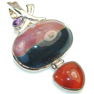 Beautiful Design!! Ocean Jasper Sterling Silver Pendant
