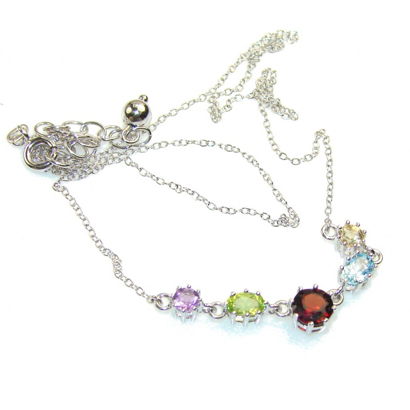 Heavenly Love!! Multistone Sterling Silver necklace