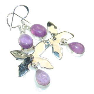 Beautiful Purple Amethyst Sterling Silver earrings