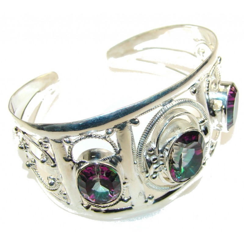 Party Time!! Magic Topaz Sterling Silver Bracelet / Cuff