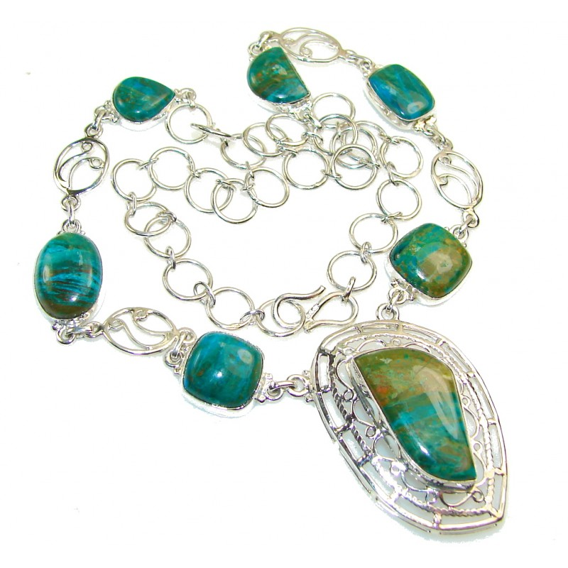 Beautiful Peruvian Opal Sterling Silver Necklace
