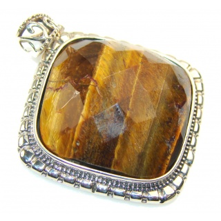 Empress Tigers Eye Sterling Silver Pendant