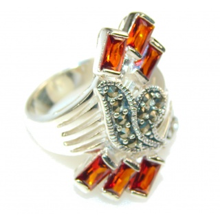 Lovely Design Honey Topaz Sterling Silver Ring s. 7