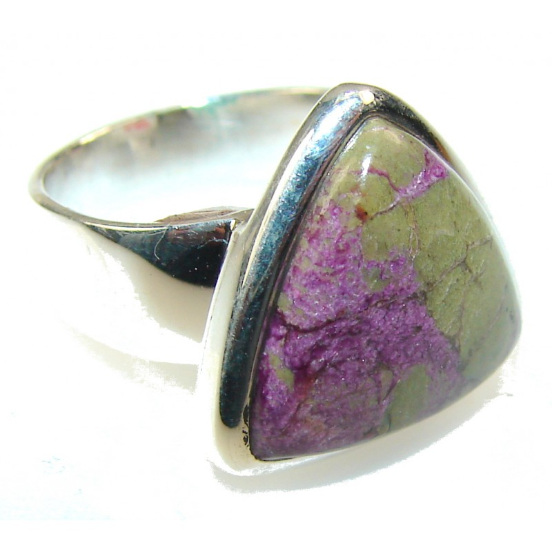Rare Natural Eudialyte Sterling Silver Ring s. 6 1/2