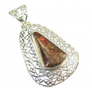 Secret Rainbow Ammolite Sterling Silver Pendant