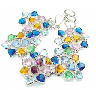 Passion Multicolor Quartz Sterling Silver Bracelet