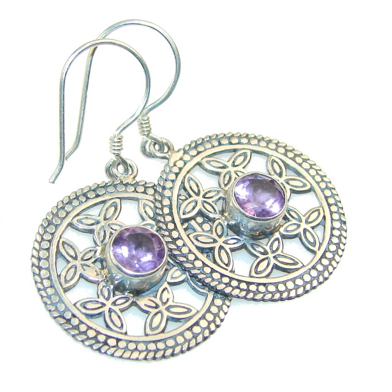 Perfect Purple Amethyst Sterling Silver earrings