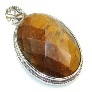 Fantastic Tigers Eye Sterling Silver Pendant