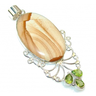 Instant Classic Picture Jasper Sterling Silver pendant