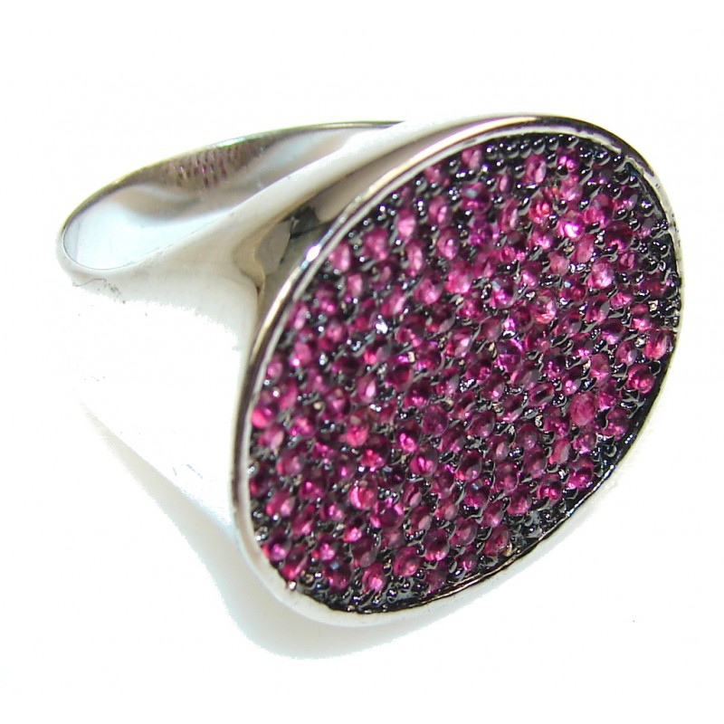 Expressions Pink Topaz Sterling Silver ring; size 8 1/2