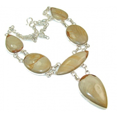 Fabulous Design!! Wild Horse Jasper Sterling Silver necklace